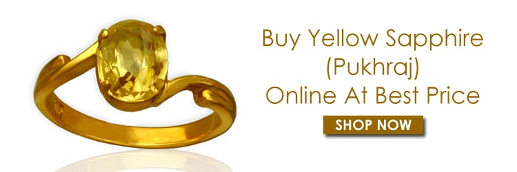 Yellow sapphire Pukhraj Gemstone Rings For Women
