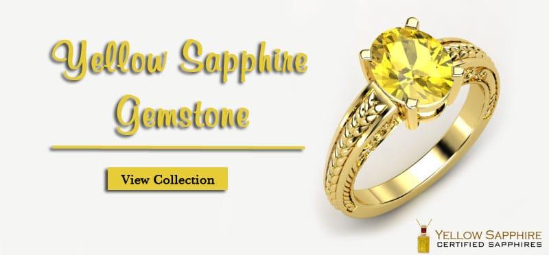 Carat Yellow Sapphire Ring