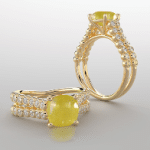 Yellow sapphire Gemstone Rings For Women