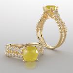 Yellow sapphire Gemstone Rings For Women