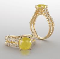 Yellow sapphire (Pukhraj) Gemstone Rings For Women