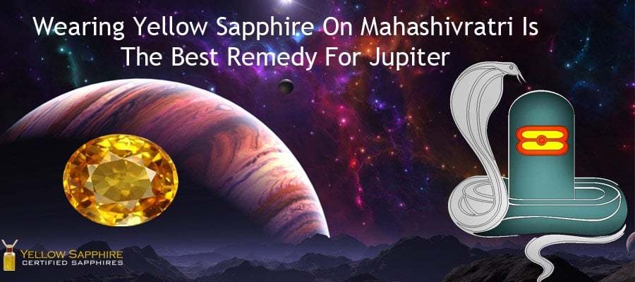 Wearing Yellow Sapphire On Mahashivratri Is The Best Remedy For Jupiter