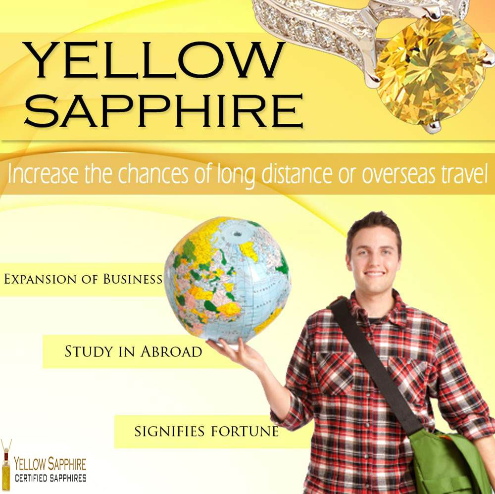Yellow Sapphire benefits for Travel